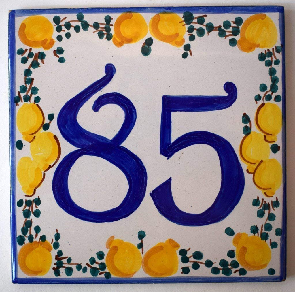 Numeri Civici In Ceramica.Occasione Targhe Numeri Civici Dimensione Cm 15 X 15 Ceramica Handmade Made In Italy Solo Alcuni Numeri Disponibili Casame