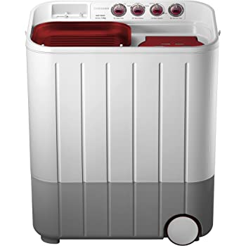 Samsung WT707QPNDMWXTL Semi-automatic Washing Machine (7.0 kg, Grey and Red)