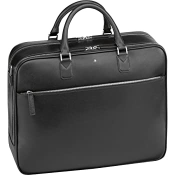 63a71bf6ec Montblanc Briefcase, black (black) - 113180: Amazon.co.uk: Luggage