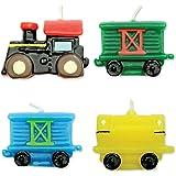 PME CA007 Lot de 4 Bougies, Plastique, Multicolore, 4 x 1,5 x 4 cm