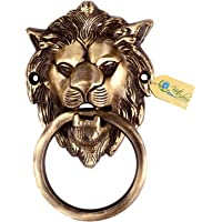 Kratidecor Lion Mouth Brass Door Knocker (Antique Brass)
