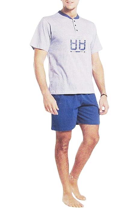 Karel más pijama corto para hombre de algodón con estampado de lunares con impresión, en Serafino - Art. 6266: Amazon.es: Ropa y accesorios