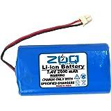 ZUQ 7.4V 2600mAh Lithium Ion Recharagable Battery Li ion 18650 Lithium ion Rechargeable Battery Pack 2S 7.4V 2600mAh…