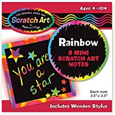 Melissa and Doug Rainbow Mini Scratch Art Notes (in Display)
