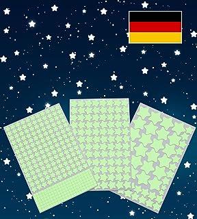 DESIGN FREUNDE Selbstklebende Leuchtsterne Sterne Sternenhimmel 100 ...