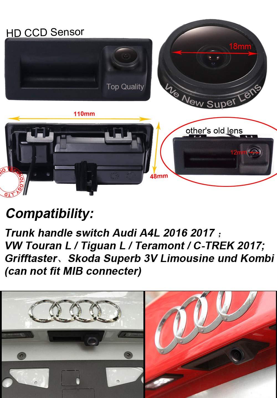 Dynavsal-Auto-Rckfahrkamera-1280-720-Pixel-1000TV-Linien-Super-Objektiv-Wasserdicht-170-Super-Weitwinkel-Griffleiste-Rckfahrkamera-fr-VW-Touran-LTiguan-LTeramontC-Trek-TouranA4L-2016-2017