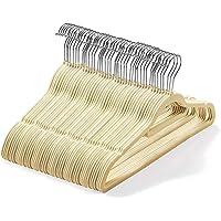 Lot de 50 cintres en velours (45cm) – Cintres antidérapants de qualité supérieure avec barre à cravate et crochet…