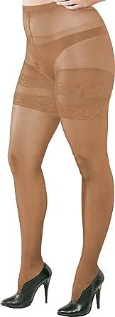 WOOTI TIGHTS Collant RUSTICA 20 den per taglie forti, costruito per consentire il massimo comfort e adattabilità alla silhouette