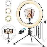 """ELEGIANT Ljusring för stativfotografering, 10,2 """"Selfie Ring Light med fjärrkontroll 120 LEDs 3 lägen 11 Light Levels för Tik"""