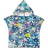 Wetry - Baby Bathrobe Animal Print Hooded Poncho Kids Towel Microfiber 60 * 60CM