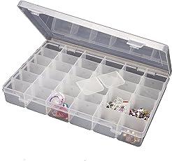 Bulfyss Multipurpose Plastic Jewellery Organizer(Transparent)