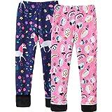 Maeau Niñas Leggings 2 Pack Legging Estampado Leggings Pantalón para Niña para Otoño Invierno