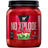 BSN N.O.-XPLODE Pre Workout Powder, Energy Supplement for Men and Women with Creatine and Beta-Alanine, Flavor: Green Apple,