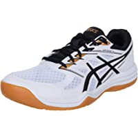 ASICS Upcourt 4, Indoor Court Shoe Uomo, White/Black, 45 EU