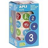 Apli Kids 16798 Gomets Abc Minusc Colores Rem, 20,0 Mm , color/modelo surtido