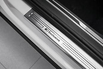 Tuning-Art EX128 Edelstahl Einstiegsleisten Set mit Abkantung Exclusive Schriftzüge