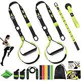 AILUKI Slingtrainer Sling Trainer Set met deuranker Resistance Strap Kit Verstelbare fitnessbanden Thuis Suspension Weerstand