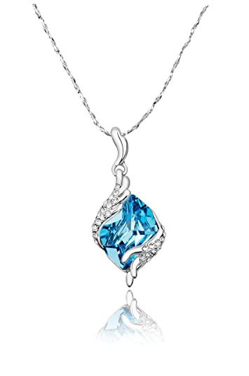 Buy yellow chimes crystals from swarovski angel guardian silver buy yellow chimes crystals from swarovski angel guardian silver blue crystal pendant for women and girls online at low prices in india amazon jewellery aloadofball Choice Image