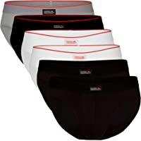 DANISH ENDURANCE Men's Cotton Briefs 6 Pack, Tag-Free, Classic Underwear Pants, Comfortable Hip Waistband, White, Black…