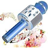 SunTop Microfono Karaoke Bluetooth Wireless, Portatile Microfono Karaoke Bambini con Altoparlante, KTV Karaoke Player per Can