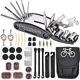 Nabance 16-en-1 Outil Réparation Vélo Multifonctionnel d'outils de vélo Pliable Portable Kit Vélo Multi Outil Acier Inoxydabl
