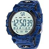 Beeasy Reloj Deportivo Hombre,Relojes Digital Impermeable Watches LCD con Esfera Grande Inteligente Fitness Tracker Contador