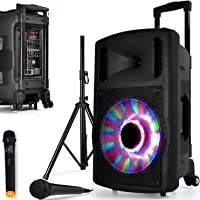 Enceinte SONO Mobile DJ PA 700W FUZZY12BT LED PIED Batterie Party Karaoké 2 MICROS 12 USB SD Bluetooth FAMILLE ENFANT…