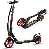Goplus Monopattino Pieghevole a 2 Ruote con Altezza Regolabile, Scooter in Alluminio con Tracolla e Ruote, per Adulti o Bambi