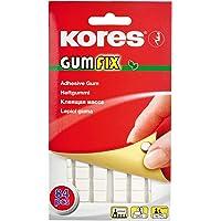 Kores Gumfix Pâte blanche, pâte adhésive réutilisable, Pack of 84 pièces, 50g