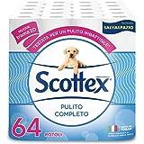 Scottex Pulito Completo Carta Igienica Salvaspazio, 1 confezione (4 x 16 rotoli)