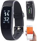 Newgen Medicals Smartband: Premium-GPS-Fitness-Armband mit XL-Touch-Display, 14 Sportarten, IP68 (Fitnessarmband wasserdicht)