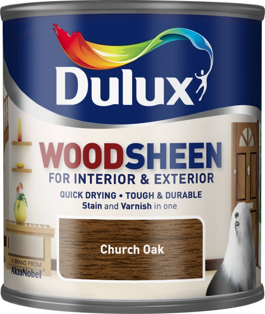 Quick drying interior exterior woodsheen rich mahogany 750ml