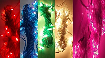 Motoway Rice Lights Serial Bulbs Home Decoration Lighting for Diwali Christmas Navratra Lighting - Set of 9