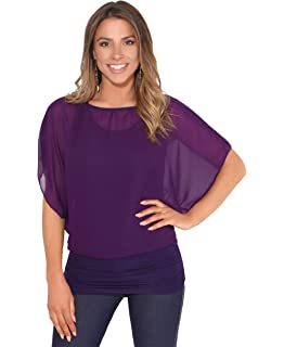 Moda Lovers Donna Pipistrello Plus Size Baggy Top Pullover Jersey Ladies Manica Lunga Plain Loose Top 8-26