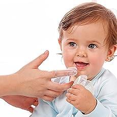 Ole Baby Teething Finger Soft Slicone Finger Brush with Storage Case for Infants