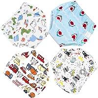 Culotte d'apprentissage Lavables 4 Pièces Bébé Enfant Fille Garçon Couches Culottes Anti-Fuite en Coton Imperméable