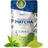 Thé Matcha Bio en Poudre 100g WeightWorld - Thé Vert Matcha Bio Japonais - Vegan & Cérémoniel - Poudre de Matcha - Pâtisserie