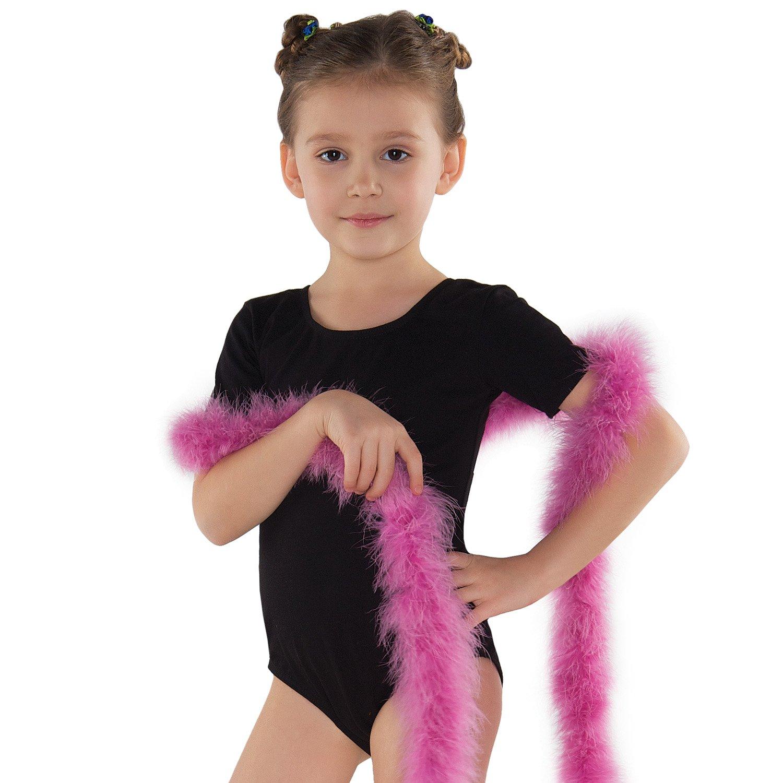 Shepa tuta bambini a maniche corte ginnastica balletto ragazza, Bambini, nero, 152