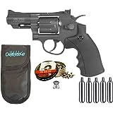 Outletdelocio. Revolver Perdigón Gamo PR-725 + Funda portabombonas + balines + bombonas co2. 29318/23054/38203