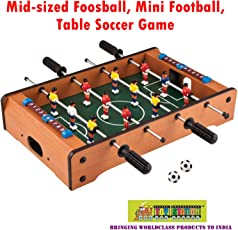 TOY-STATION Mid-Sized Foosball, Mini Football, Table Soccer Game- 4 Sticks