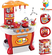 Toys Bhoomi Interactive Little Chef Kids Kitchen Play Set with Light & Sound