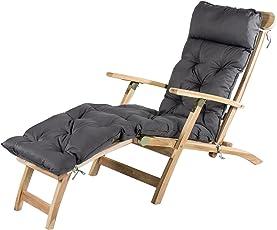 Meerweh Deckchair Liege, Ca. 195 X 49 X 10 Cm, Polsterauflage, Kissen