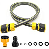 TOPWAYS Hose Connection Set for Garden Hose Reel, Plastic Hose Pipe Fitting Connection Kit including 3/4'' Male Threaded, 2 i