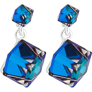 b3fe42dd3 Jon Richard Made With Swarovski® Crystals Women's Cube Drop Earring Created  With Swarovski Crystals