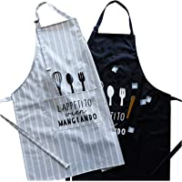 2 Pack Apron, Adjustable PVC Apron, Cooking Kitchen Waterproof, Aprons for Women and Men, Chef Apron with Pockets for…