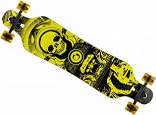 MCTECH 41 Zoll Longboard Retro Skateboard Cruiser Board Funboard Fancy Board Komplettboard Mit ABEC-9 High Speed Kugellager