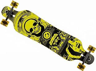 MCTECH 41 Zoll Longboard Retro Skateboard Cruiser Board Funboard Fancy Board Komplettboard Mit ABEC-9 High Speed Kugellager
