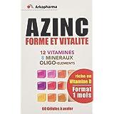 Arkopharma Azinc Forme et Vitalité 60 Gélules - Lot de 2