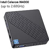 Mini PC Lüfterlos Intel Celeron N4000 (bis zu 2,6 GHz) 4GB DDR4/64GB eMMC Mini-Desktop-Computer Windows 10 HDMI- und VGA…