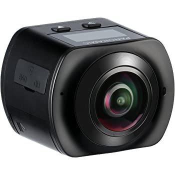 Mixmart Action Camera, Full HD 2448x2448 30fps, Impermeabile, Lente Fish-eye 220°, Visione Panoramica 360°, WIFI e Kit Accesori con 2 Batterie